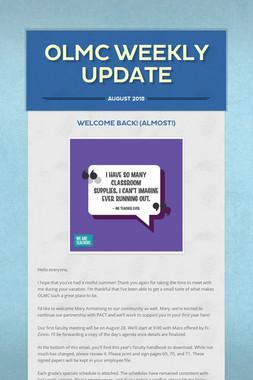 OLMC Weekly Update