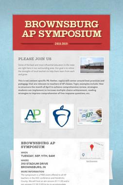 Brownsburg AP Symposium