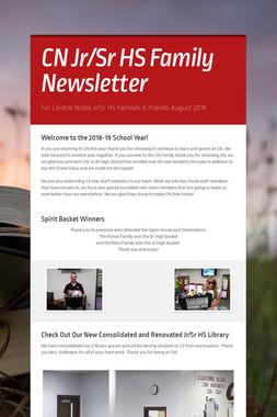 CN Jr/Sr HS Family Newsletter