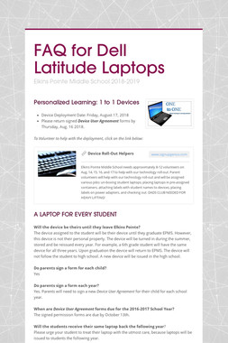 FAQ for Dell Latitude Laptops