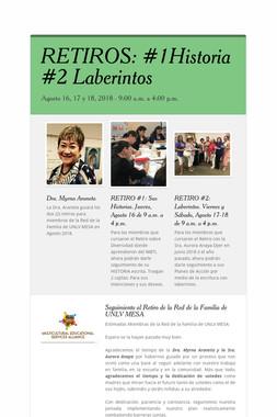 RETIROS: #1Historia  #2 Laberintos