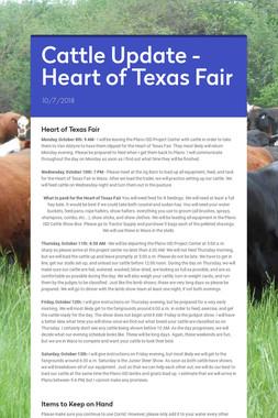 Cattle Update - Heart of Texas Fair