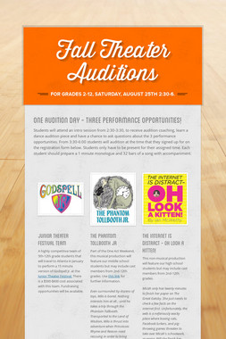 Fall Theater Auditions