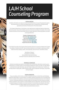 LAJH School Counseling Program