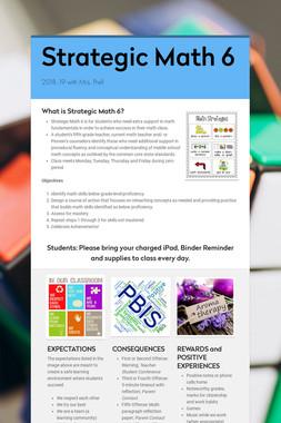 Strategic Math 6