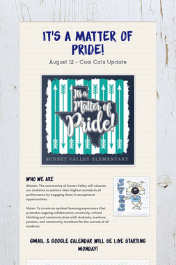 It's a Matter of PRIDE!