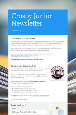 Crosby Junior Newsletter