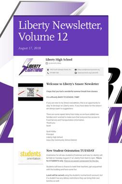 Liberty Newsletter, Volume 12