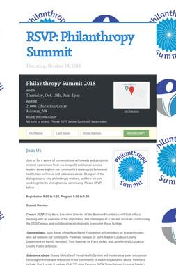 RSVP:  Philanthropy Summit