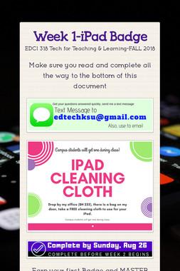 Week 1-iPad Badge