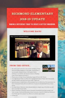 Richmond Elementary August Update