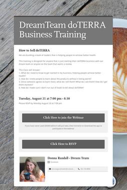 DreamTeam doTERRA Business Training