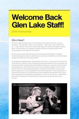 Welcome Back Glen Lake Staff!