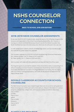 NSHS Counselor Connection