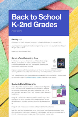 Back to School K-2nd Grades