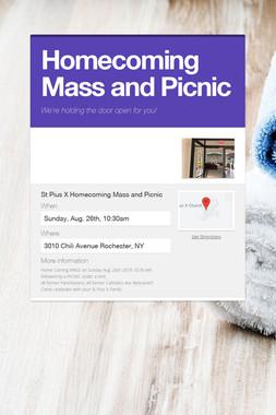 Homecoming Mass and Picnic