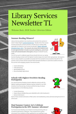 Library Services Newsletter TL