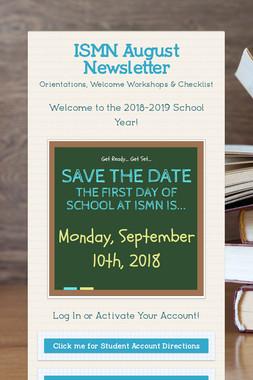 ISMN August Newsletter