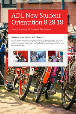 ADL New Student Orientation 8.28.18