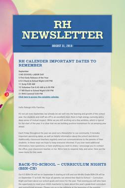 RH Newsletter