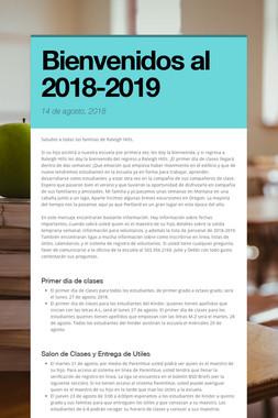 Bienvenidos al 2018-2019