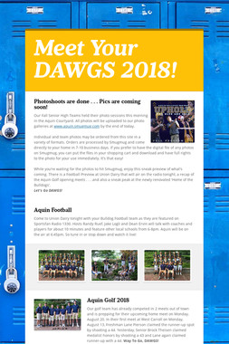 Meet Your DAWGS 2018!