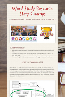 Word Study Resource: Story Champs
