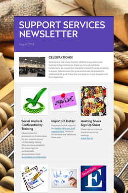 SUPPORT SERVICES NEWSLETTER