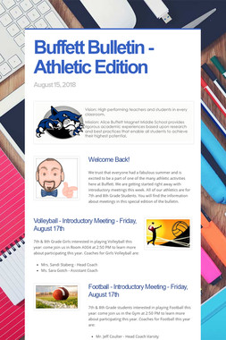 Buffett Bulletin - Athletic Edition