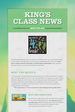 King's Class News
