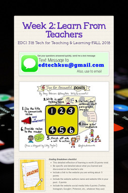 Week 2: Learn From Teachers