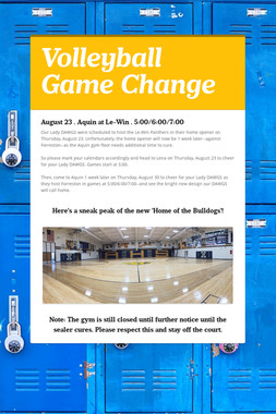 Volleyball Game Change