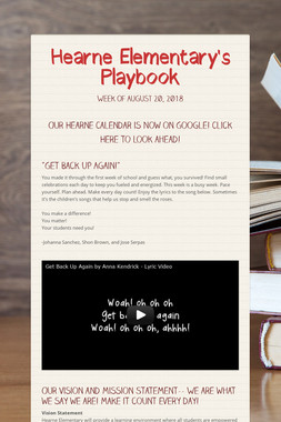 Hearne Elementary's Playbook