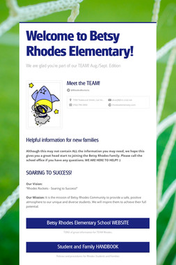 Welcome to Betsy Rhodes Elementary!