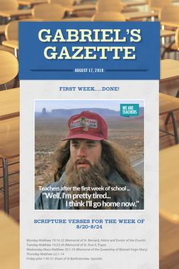 Gabriel's Gazette