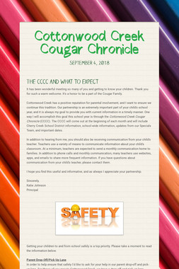 Cottonwood Creek Cougar Chronicle