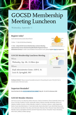 GOCSD Membership Meeting Luncheon