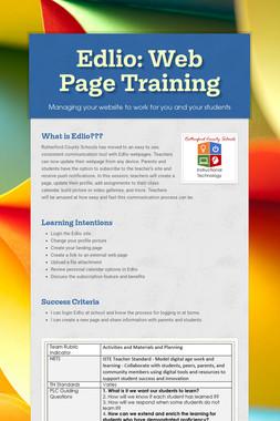 Edlio: Web Page Training