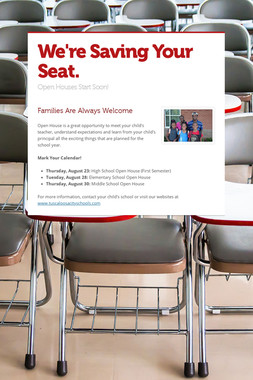 We're Saving Your Seat.