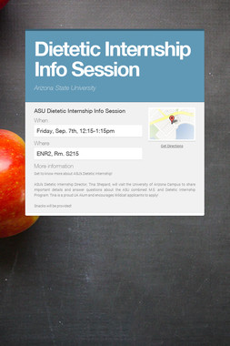 Dietetic Internship Info Session