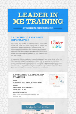 Leader in Me Training