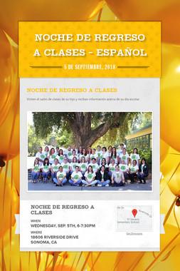 Noche de Regreso a Clases - Español
