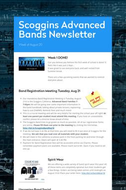 Scoggins Advanced Bands Newsletter