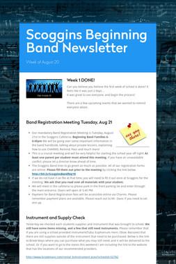 Scoggins Beginning Band Newsletter