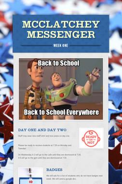 McClatchey Messenger