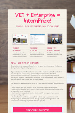 VET + Enterprise = InternPrize!