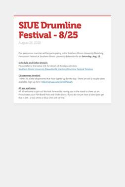 SIUE Drumline Festival - 8/25