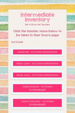 Intermediate Inventory