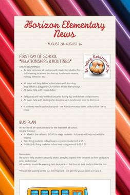 Horizon Elementary News