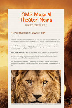 OMS Musical Theater News